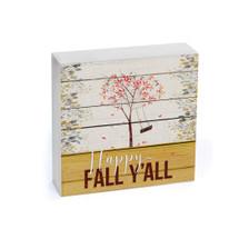 Happy Fall Y'all Shelf Block 7x7