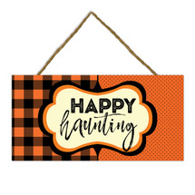 Happy Haunting Wooden Plank Sign 5x10