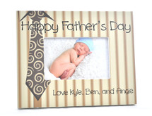 Happy Fathers Day Personalized Picture Frame For A 4x6 Photo