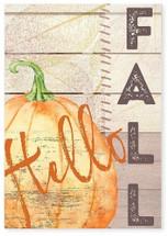 Hello Fall Rustic Wood Wall Sign 8x12