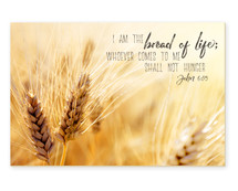 I Am The Bread Of Life TimberArt Wood Photo Print 12x18