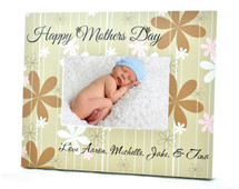 Happy Mothers Day Personalized Picture Frame For A 4x6 Photo
