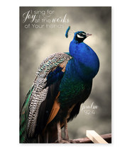 I Sing For Joy At The Works Of Your Hands TimberArt Wood Photo Print 12x18