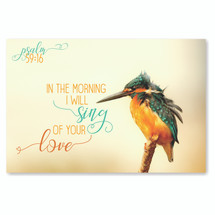 In The Morning I Will Sing Of Your Love TimberArt Wood Photo Print 8x12