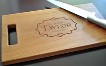Scalloped Frame Cutting Board (Walnut, Maple, or Cherry)