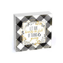 Let Our Hearts Be Full Of Thanks & Giving Shelf Block 7x7
