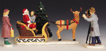 93303 -  Santa's Sleigh, Set of 4 - Lemax Christmas Village Table Pieces