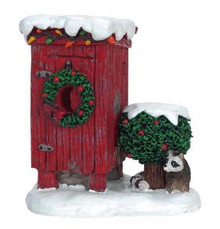 64481 -  Christmas Outhouse - Lemax Christmas Village Misc. Accessories