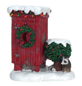 Christmas Village Accessories.64481 Christmas Outhouse Lemax Christmas Village Misc Accessories