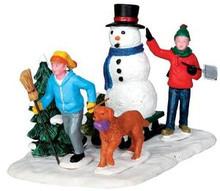 33033 - Snowman Transport  - Lemax Christmas Village Table Pieces