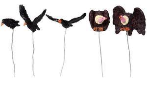 84816 -  Assorted Birds, Set of 5 - Lemax Spooky Town Halloween Village Accessories
