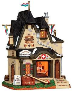 35570 - Village Alphorn Maker  - Lemax Vail Village Christmas Houses & Buildings