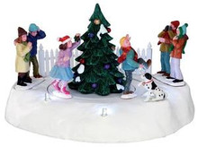 34604 - Mistletoe Chase, Battery-Operated (4.5v)  - Lemax Christmas Village Table Pieces