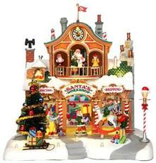 35558 - Santa's Workshop, with 4.5v Adaptor  - Lemax Vail Village Christmas Houses & Buildings