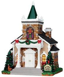 35537 - Cedar Creek Church  - Lemax Caddington Village Christmas Houses & Buildings
