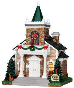 35537 - Cedar Creek Church  - Lemax Caddington Village Christmas Houses & Buildings