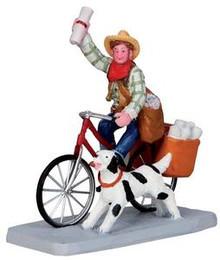 32143 - Cowboy Paperboy  - Lemax Christmas Village Figurines
