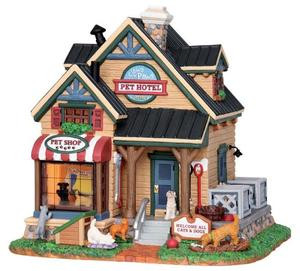 25387 - Claws & Paws Pet Hotel  - Lemax Vail Village Christmas Houses & Buildings