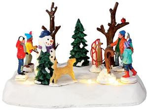 Lemax Christmas.34630 Look Out Battery Operated 4 5v Lemax Christmas Village Table Pieces