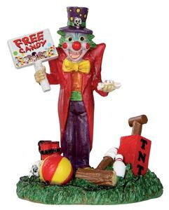32102 - Free Candy Clown  - Lemax Spooky Town Halloween Village Figurines