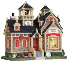 25342 - Hillside School  - Lemax Harvest Crossing Christmas Houses & Buildings