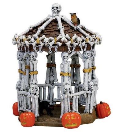 73609 - Skeleton Gazebo - Lemax Spooky Town Halloween Village Accessories