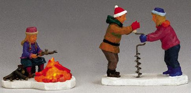14673 -  Catch of the Day, Set of 2, Battery-Operated - Lemax Christmas Village Table Pieces
