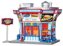 25350 - Astro Burgers, Set of 2  - Lemax Jukebox Junction Christmas Houses & Buildings