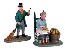 62246 -  Cornhusking, Set of 2 - Lemax Christmas Village Figurines