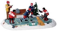 23969 - Hockey Tryouts  - Lemax Christmas Village Table Pieces