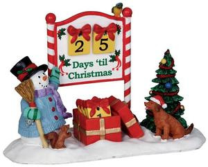 Lemax Christmas.23968 Countdown To Christmas Set Of 7 Lemax Christmas Village Table Pieces