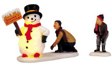 04511 -  Frosty's Friendly Greeting, Set of 2 B/O (4.5v) -  Lemax Christmas Village Table Pieces