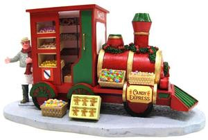 33023 - Christmas Market Candy Seller  - Lemax Christmas Village Table Pieces