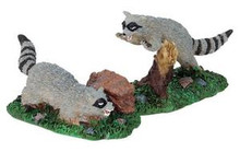 82468 -  Rabid Racoons, Set of 2 - Lemax Spooky Town Halloween Village Figurines