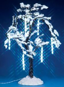34642 - Cascading Icicle Tree, Battery-Operated (4.5v) - Lemax Christmas Village Trees