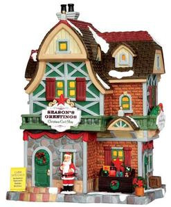 35507 - Season's Greetings Christmas Card Shop  - Lemax Caddington Village Christmas Houses & Buildings