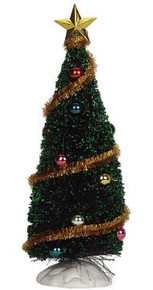 04493 -  Sparkling Green Christmas Tree, Medium -  Lemax Christmas Village Trees