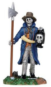 32108 - Creepy Night Watchman  - Lemax Spooky Town Halloween Village Figurines