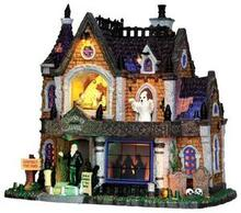 35552 - Crowley Hall, with 4.5v Adaptor  - Lemax Spooky Town Halloween Village Houses & Buildings