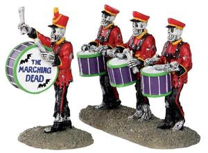 32101 - Drum Corpse, Set of 2  - Lemax Spooky Town Halloween Village Figurines