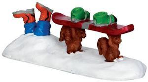 32136 - Ski Country Varmints  - Lemax Christmas Village Figurines