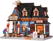 35538 - Trixie's Dog Boutique & Pet Shop  - Lemax Plymouth Corners Christmas Houses & Buildings