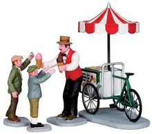 32139 - Gelato Cart, Set of 4  - Lemax Christmas Village Figurines