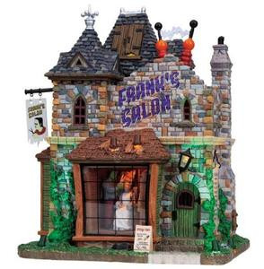 85662 - Frank's Salon, with 4.5-Volt Adaptor - Lemax Spooky Town Halloween Village Houses & Buildings