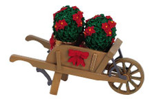 64479 -  Wheelbarrow with Poinsettias - Lemax Christmas Village Misc. Accessories