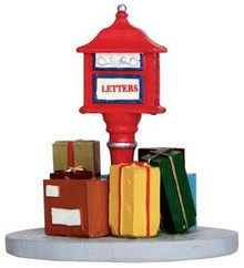 34638 - Overloaded Mailbox  - Lemax Christmas Village Misc. Accessories