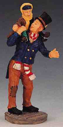 02403 -  Bob Cratchit and Tiny Tim -  Lemax Christmas Figurines