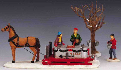 03321 -  Maple Syrup Sled, Set of 3 -  Lemax Christmas Village Table Pieces