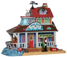25361 - High Seas Bait & Tackle  - Lemax Plymouth Corners Christmas Houses & Buildings