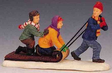 02418 -  The Toboggan Tug -  Lemax Christmas Figurines